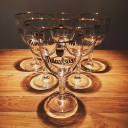 Glass beer Maredsous 33cl (stemware - high-stemmed)