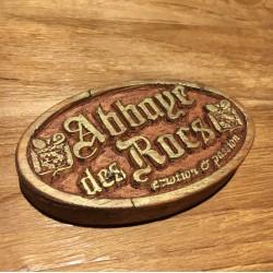 Plaque Abbaye des Rocs bois...