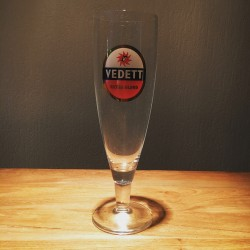 Glass beer Vedett model flute