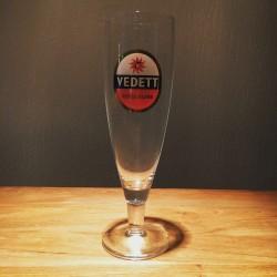 Verre bière Vedett modèle flûte