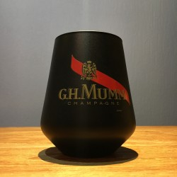 Glass Mumm tumbler black
