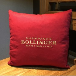 Coussin Bollinger rouge