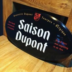 Plaat Saison Dupont metaal