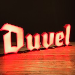 Lichtreclame LED Duvel