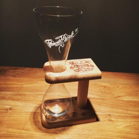 Glas bière Kwak met houten voet