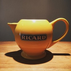 Grande cruche à eau Ricard céramique jaune