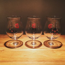 Set of 3 glasses beer Duvel 2016