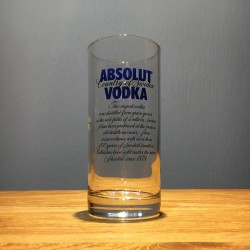 Verre vodka Absolut long...