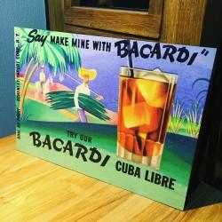 Plaque décorative Bacardi...
