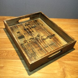 Tray Bacardi solid wood