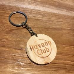 Porte-clés Havana Club en bois
