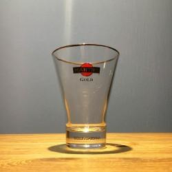 Glass Martini Gold flared