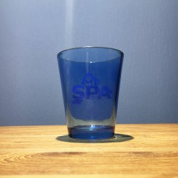 Glass water Spa blue