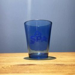 Verre eau Spa bleu