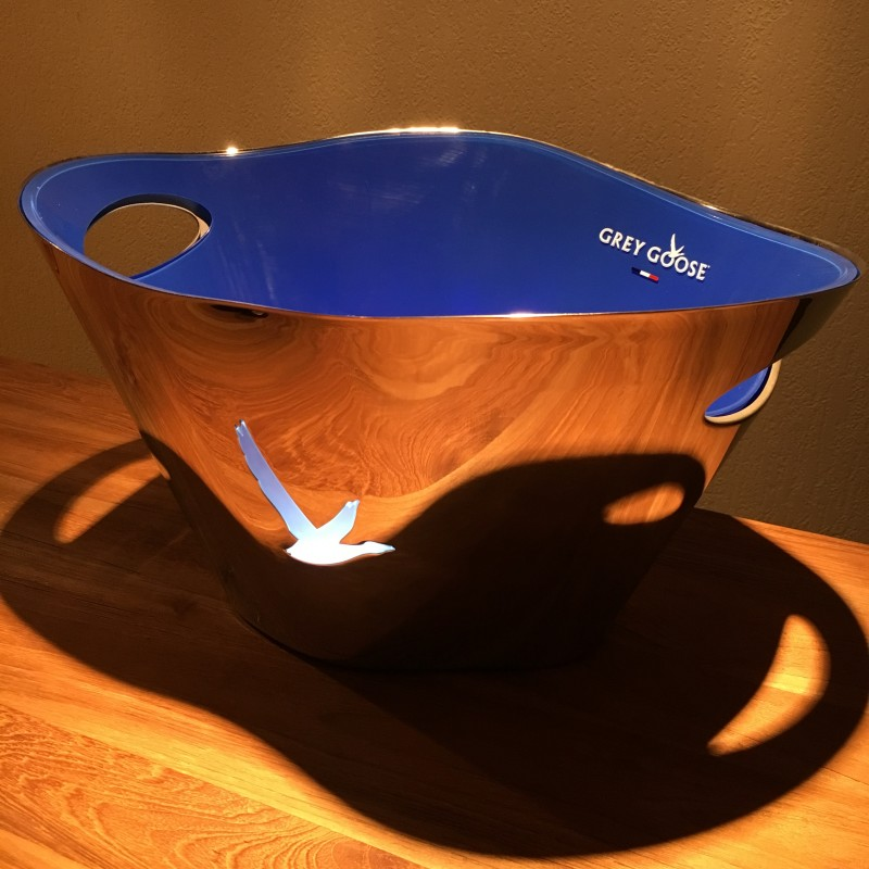 Bottle bucket Grey Goose stainless steel | Drinkpalace