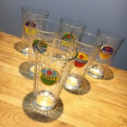 Set of 6 Vedett glasses...