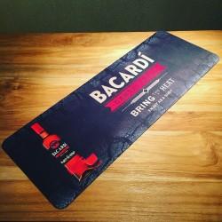 Tapis de bar Bacardi Carta Fuego