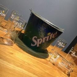 Lot Sprite 6 verres + 1 vasque