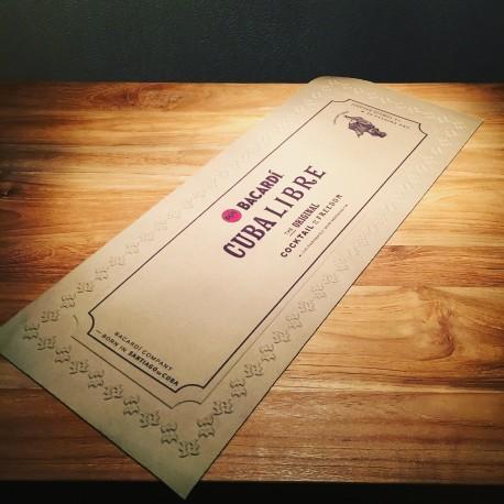 """Tapis de bar Bacardi """"Cuba Libre"""""""