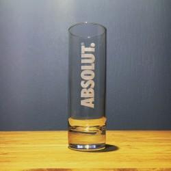 Verre Absolut vodka long...