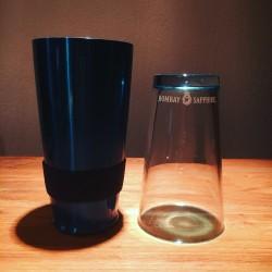 Shaker Bombay Sapphire glass en stainless steel