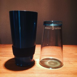 Shaker Bombay Sapphire verre et inox