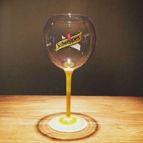 Glass Schweppes yellow PVC stemware