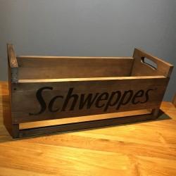 Box Schweppes in wood