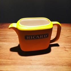 Water pitcher (water jug) Ricard ceramic rectangular yellow smooth
