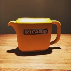 Cruche à eau Ricard céramique rectangulaire jaune mate