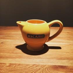 Petite cruche à eau Ricard céramique jaune