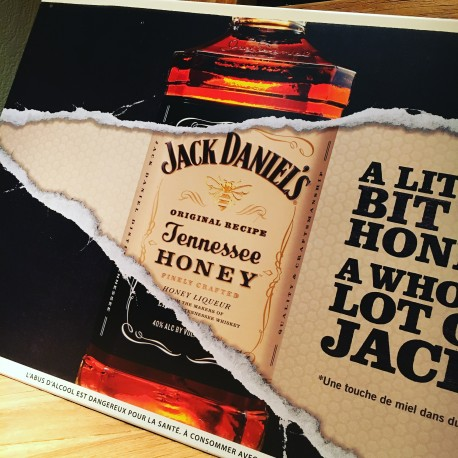 Plaque métallique Jack Daniel's Honey