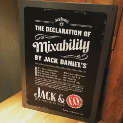 Metal decorative wall plate Jack Daniel's & Co