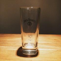 Glass Jack Daniel's black logo