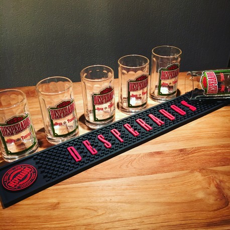 Kit Desperados 6 verres + tapis de bar