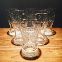 Lot de 6 verres Coca-Cola Jeux Olympiques 2012 Blanc