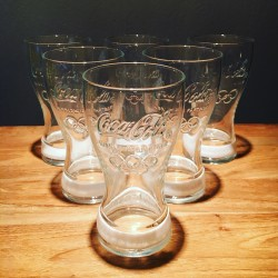Pack of 6 Coca-cola glasses Olympics 2012 white