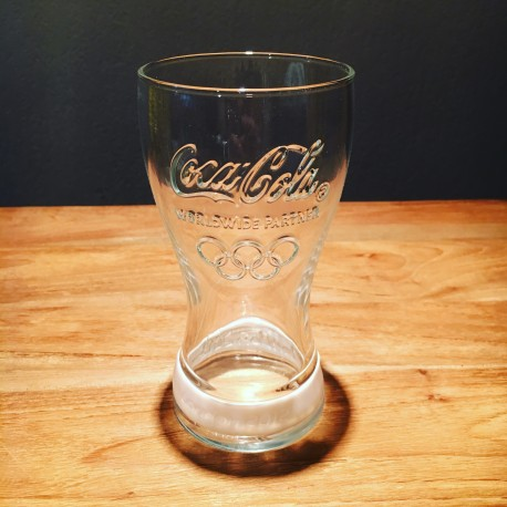 Glass Coca-Cola Olympic games 2012 white