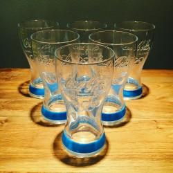 Mix van 6 Coca-Cola glazen Olympische spelen 2012 Blauw