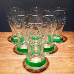 Lot de 6 verres Coca-Cola Jeux Olympiques 2012 Vert