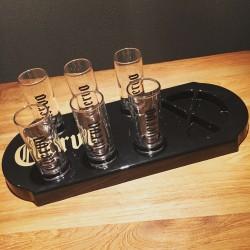 Kit Cuervo verres + plateau