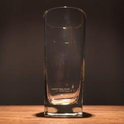 Verre Whisky Johnnie Walker long drink base carrée