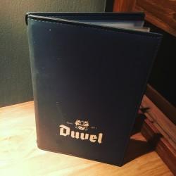 Kaart menu Duvel