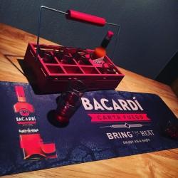 Plateau Bacardi Fuego + 7 shots + Fuego Barmat