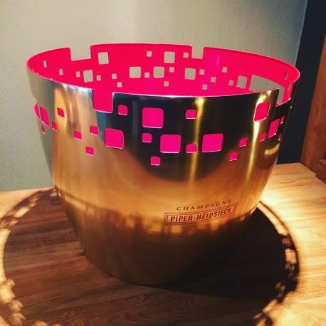 Grande vasque Piper Heidsieck en inox pour 1 à 4 bouteilles de Champagne