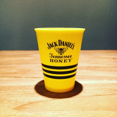 Glass Jack Daniel's Honey shooter yellow in PVC