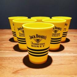 Verre Jack Daniel's Honey shooter jaune en PVC