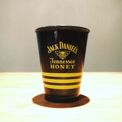 Glas Jack Daniel's Honey shooter zwart in PVC