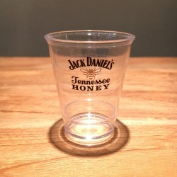 Glass Jack Daniel's Honey shooter transparent in PVC