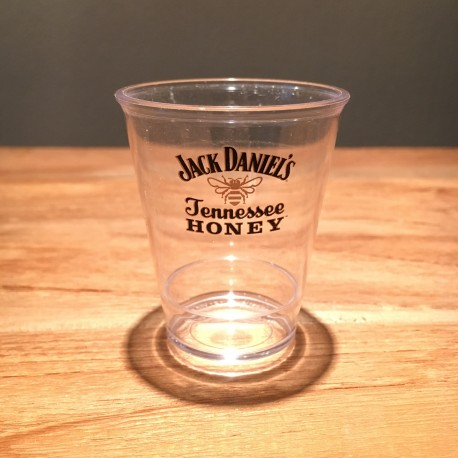 Verre Jack Daniel's Honey shooter transparent en PVC